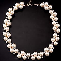 お買い得  ネックレス-女性用 真珠 チョーカー / ストランドネックレス  -  真珠 レディース, ファッション, 結婚式 愛らしいです ホワイト ネックレス ジュエリー 用途 結婚式, パーティー, 日常, ワーク