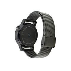 Черный / Серебристый Нержавеющая сталь Классическая застежка Для Motorola Смотреть 42мм / 46мм