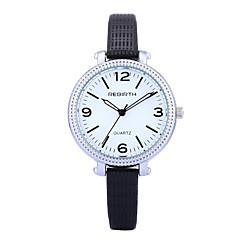 お買い得  メンズ腕時計-REBIRTH 女性用 リストウォッチ クォーツ ブラック / 白 / レッド ホット販売 / ハンズ レディース カジュアル ファッション エレガント - ブラック Brown レッド 2年 電池寿命 / 三菱LR626