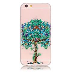 Для Кейс для iPhone 6 / Кейс для iPhone 6 Plus Сияние в темноте Кейс для Задняя крышка Кейс для дерево Мягкий TPU AppleiPhone 6s Plus/6