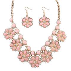 Набор украшений Ожерелье / серьги европейский Мода Черный Розовый Светло-синий Радужный Ожерелья Серьги ДляСвадьба Для вечеринок