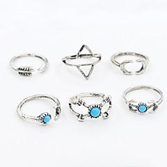 Gyűrűk Divat / Állítható Napi / Hétköznapi Ékszerek Női / Férfi Midi gyűrűk / Karikagyűrűk 1set,Egy méret Ezüst