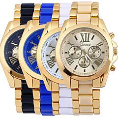 Heren Dress horloge Modieus horloge Kwarts / Legering Band Informeel Goud