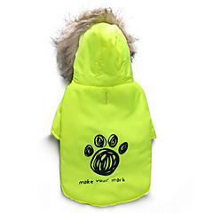 お買い得  犬用ウェア&アクセサリー-ネコ 犬 コート パーカー 犬用ウェア 花/植物 グリーン コットン コスチューム ペット用 男性用 女性用 保温