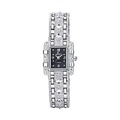 Dames Dress horloge Modieus horloge Kwarts / Legering Band Vintage Vrijetijdsschoenen Zwart Wit Wit Zwart