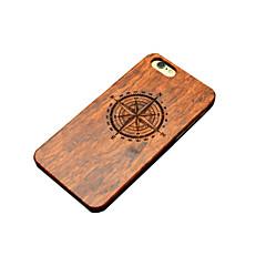 Недорогие Кейсы для iPhone 5-Кейс для Назначение iPhone 5 Apple Кейс для iPhone 5 С узором Рельефный Кейс на заднюю панель Мультипликация Твердый деревянный для