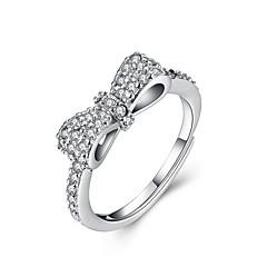 指輪 セクシー / ファッション 結婚式 / パーティー / 日常 / カジュアル ジュエリー 純銀製 女性 ステートメントリング 1個,調整可 シルバー