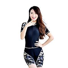 Mulheres Mergulho Skins Anti Atrito Prova-de-Água Resistente Raios Ultravioleta Tactel Fato de Mergulho Manga Curta Roupas de Mergulho
