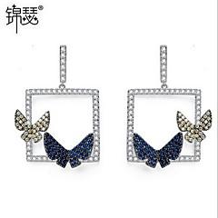 Dames Druppel oorbellen Zirkonia Modieus Hypoallergeen Europees Kristal Zirkonia Kubieke Zirkonia Sieraden Wings Sieraden VoorDagelijks