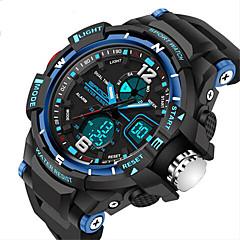 SANDA Heren Sporthorloge Digitaal horloge Kwarts Digitaal Japanse quartz LCD Kalender Waterbestendig Dubbele tijdzones alarm Stopwatch