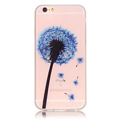 Для Кейс для iPhone 6 / Кейс для iPhone 6 Plus Сияние в темноте Кейс для Задняя крышка Кейс для Одуванчик Мягкий TPU AppleiPhone 6s