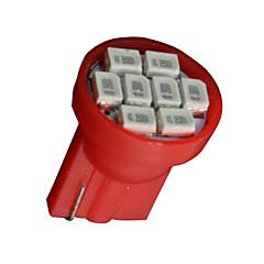voordelige -10x rood t10 W5W 2825 158 168 192 921 906 8-SMD LED snelheidsmeter instrument licht