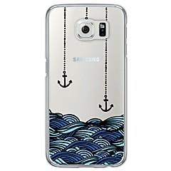 voordelige Galaxy S6 Hoesjes / covers-Voor Samsung Galaxy S7 Edge Ultradun / Doorzichtig hoesje Achterkantje hoesje Anker Zacht TPU SamsungS7 edge / S7 / S6 edge plus / S6