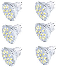 abordables Ampoules LED-YouOKLight 350 lm GU4(MR11) Spot LED MR11 15 diodes électroluminescentes SMD 5733 Décorative Blanc Chaud Blanc Froid 9-30