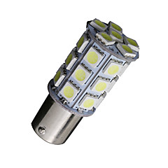 2x koel wit 1156 BA15s 27-SMD 5050 LED-lampen back-up achteruit 7506 1141
