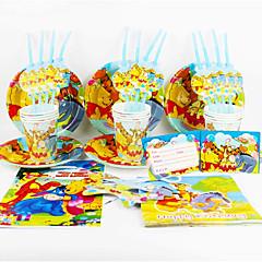 levne Zařízení domácnosti-Medvídek Pú 92pcs narozeninové party dekorace pro děti evnent zásoby strany party dekorace 12 lidí používá