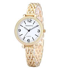 お買い得  メンズ腕時計-REBIRTH 女性用 ブレスレットウォッチ / リストウォッチ ホット販売 / / 合金 バンド カジュアル / ファッション / エレガント シルバー / ゴールド / 2年 / 三菱LR626