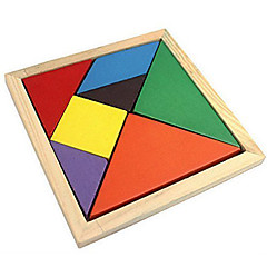Tangram Educational Toy Jigsaw Puzzle Wooden Puzzles Colorful Classic Boys' Girls' 7