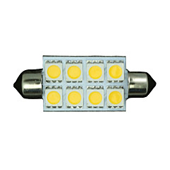 10x warm wit slinger 42mm 5050 8-smd 211-2 578 569 koepel kaart interieur LED verlichting