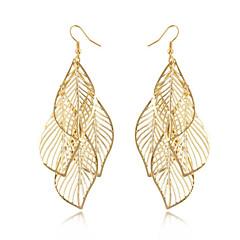 preiswerte Ohrringe-Damen Quaste Lang Ohrring - Blattform Quaste, Böhmische, Modisch Golden Für Alltag Normal