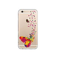 For iPhone 6 etui iPhone 6 Plus etui Transparent Mønster Etui Bagcover Etui Sommerfugl Blødt TPU foriPhone 7 Plus iPhone 7 iPhone 6s