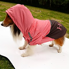 Χαμηλού Κόστους Ρουχισμός για γάτες-Σκύλος Αδιάβροχο Πάλτο Ρούχα για σκύλους Αδιάβροχη Γράμμα & Αριθμός Πορτοκαλί Κίτρινο Πράσινο Ροζ Στολές Για κατοικίδια