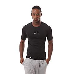 남성용 러닝 티셔츠 짧은 소매 빠른 드라이 통기성 땀 흡수 기능성 소재 편안함 티셔츠 츄리닝 상의 의류 세트 탑스 용 운동&피트니스 농구 달리기 나이론 친론 단단히 화이트 블랙 S M L XL