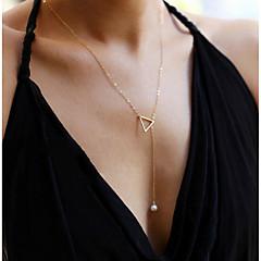 preiswerte Halsketten-Damen Anhängerketten / Ketten - Perle Personalisiert, Modisch Verstellbar, bezaubernd Silber, Golden Modische Halsketten Schmuck Für Hochzeit, Party, Alltag