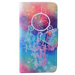 Недорогие Кейсы для iPhone 6-Кейс для Назначение Apple iPhone 6 iPhone 7 Бумажник для карт Кошелек со стендом Флип С узором Рельефный Чехол  Перья Твердый Кожа PU для