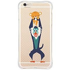 Назначение iPhone X iPhone 8 iPhone 6 iPhone 6 Plus Чехлы панели Защита от удара Защита от пыли Прозрачный Задняя крышка Кейс для Животное