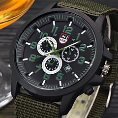 Heren Militair horloge Polshorloge Kwarts / Leer Band Vrijetijdsschoenen Zwart Zwart Koffie Groen Wit / blauw fluorescentie