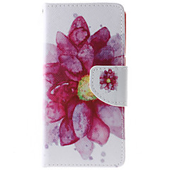 Lotus Flower Pattern PU Leather Full Body Case with Stand and Card Slot for HTC Desire 626