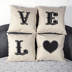 tanie Poduszki-Bielizna / Syntetyczny Pokrywa Pillow,Słowa i cytaty Przypadkowy