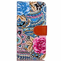 tanie Etui do iPhone 7 Plus-Kılıf Na Apple iPhone X iPhone 8 Plus iPhone 7 iPhone 7 Plus iPhone 6 Portfel Futerał Kwiaty Twarde Sztuczna skóra na iPhone X iPhone 8