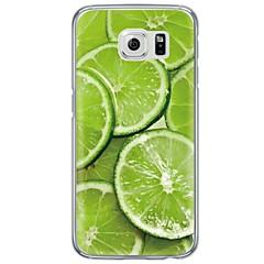 Varten Samsung Galaxy S7 Edge Ultraohut / Läpinäkyvä Etui Takakuori Etui Hedelmä Pehmeä TPU SamsungS7 edge / S7 / S6 edge plus / S6 edge