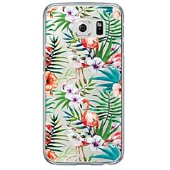 billige Galaxy S6 Etuier-Etui Til Samsung Galaxy Samsung Galaxy S7 Edge Transparent Mønster Bagcover Flise Blødt TPU for S7 edge S7 S6 edge plus S6 edge S6 S5 S4