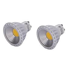 preiswerte LED-Birnen-YouOKLight 2pcs 450lm GU10 LED Spot Lampen MR16 1 LED-Perlen COB Abblendbar Dekorativ Warmes Weiß Kühles Weiß 220-240V