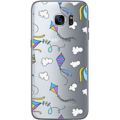 billige Galaxy S6 Etuier-For Samsung Galaxy S7 Edge Mønster Etui Bagcover Etui Ballon Blødt TPU for Samsung S7 edge S7 S6 edge plus S6 edge S6