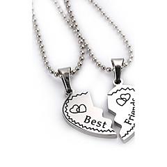 Муж. Женский Ожерелья с подвесками В форме сердца Геометрической формы Серебрянное покрытие Сплав Любовь Сердце Мода европейский Бижутерия