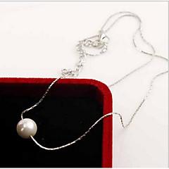 Damskie Pearl Strands Perlový náhrdelník Pearl imitacja Perłowy Srebro standardowe Modny Biżuteria Na Codzienny Casual