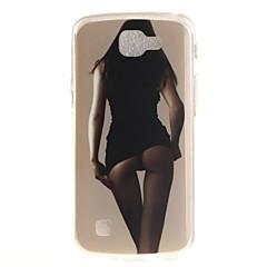 Voor LG hoesje IMD / Patroon hoesje Achterkantje hoesje Sexy dame Zacht TPU LG LG K10 / LG K8 / LG K7 / LG K4