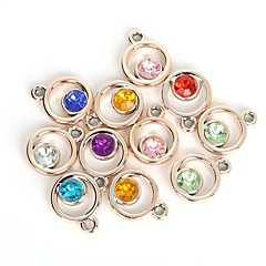 abordables Pendientes y cadenas-Mujer Encantos / Colgantes - Diamante Sintético Moda Colgante Color Aleatorio Para Diario