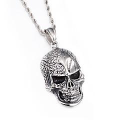 Муж. Ожерелья с подвесками В форме черепа Нержавеющая сталь Панк Бижутерия Назначение Повседневные Новогодние подарки