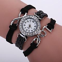 Kadın's Bilezik Saat Moda Saat Bilek Saati Quartz Renkli imitasyon Pırlanta PU Bant Işıltılı Vintage Günlük Bohem Siyah Beyaz Mavi