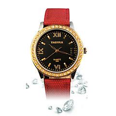 voordelige Bekijk deals-Dames Dress horloge Modieus horloge Polshorloge Kwarts / Leer Band Sneeuwvlok  Vrijetijdsschoenen Zwart Blauw Rood Geel