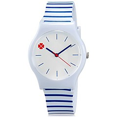 preiswerte Damenuhren-Armbanduhr Cool / Mehrfarbig Plastic Band Süßigkeit / Freizeit Blau