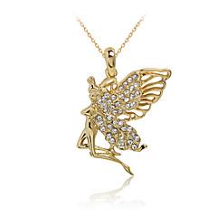 preiswerte Halsketten-Damen Anhängerketten - Strass, Rose Gold überzogen Schmetterling, Tier Modisch Golden Modische Halsketten Für Party, Alltag, Normal