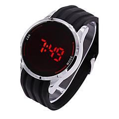 Ανδρικά Αθλητικό Ρολόι Ψηφιακό ρολόι Ψηφιακό LED Οθόνη Αφής σιλικόνη Μπάντα Φυλαχτό Μαύρο