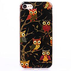 Для Кейс для iPhone 7 / Кейс для iPhone 7 Plus / Кейс для iPhone 6 IMD / Прозрачный / С узором Кейс для Задняя крышка Кейс для Сова Мягкий