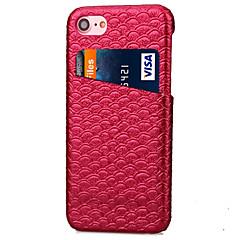 Недорогие Кейсы для iPhone 7-Кейс для Назначение IPhone 7 / iPhone 7 Plus / Apple iPhone 7 / iPhone 7 Plus Бумажник для карт Кейс на заднюю панель Однотонный Твердый Кожа PU для iPhone 7 Plus / iPhone 7